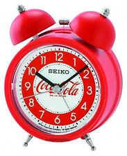 Seiko Bell Alarm Clock Red Quiet Sweep Snooze Light QHK905R Coca Cola limited Ed