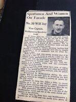 m1-5 ephemera 1949 Picture Article  Walthamstow Speedway Wilf Jay Rider