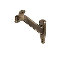 Hillman #851538 Heavy Duty Antique Brass Handrail Bracket