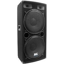 "Seismic Audio Dual 15"" PA DJ SPEAKER 500 Watts PRO AUDIO ~ NEW Band"