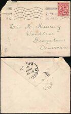 GB KG5 DOWNEY HEAD 1912 1d to BRITISH GUIANA