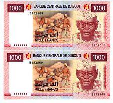 Djibouti ... P-42a ... 1000 Francs ... 2005 ... *UNC* ... Consecutive Pair
