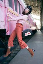 El whitepepper Hipster Plisadas De Pierna Ancha Pantalones de pana Dusty Rose-M #7R382