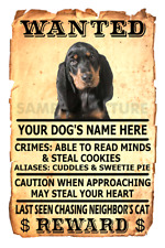 Black and Tan Coonhound Wanted Poster Flex Fridge Magnet Personalized