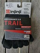 Injinji Performance 2.0 Trail Midweight Mini-crew Coolmax Toe Socks-granite-med