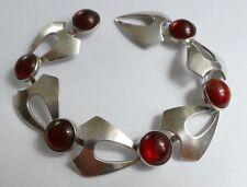 N.E. From Danmark Armband 6 Bernsteine Silber 925 Vintage 70er bracelet
