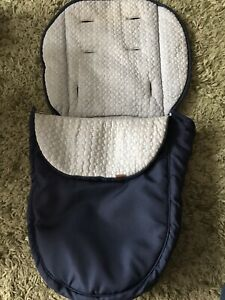 Mothercare Journey Edit Footmuff/Liner in Navy Blue