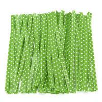 100x Metallic Dot Twist Tie Draht Tasche Verschluss Dichtung für Kuchen Candy