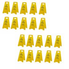 20 Stück Warnschild-Vorsicht Rutschgefahr-Vorsicht Glatt-Warnaufsteller Schild