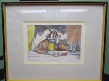 "George Crionis Artist Proof Clown Art Titled ""What's The Use"" Signed & Framed"
