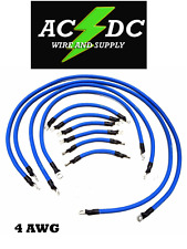 EZGO TXT PDS 36V 4 Gauge Welding Wire Blue Battery Cables HEAVY-DUTY U.S.A MADE