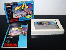 Nintendo Super Snes Unirally PAL FAH CIB Complete