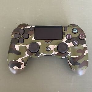 PLAYSTATION PS4 DUALSHOCK WIRELESS GREEN CAMO CONTROLLER OEM - TESTED WORKING