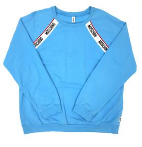 Moschino Sweatshirt Size XL Blue Branded Tape Casual Lounge Basics 105449