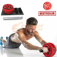 ABS EXERCISE WHEEL RUOTA MACCHINA PALESTRA MUSCOLI CASA FITNESS WORKOUT TRAINING