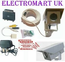COLOUR AUDIO VIDEO CCTV CAMERA SURVEILLANCE KIT METAL HOUSING