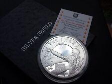 2015 5 oz Seven 7 Sins of Obama PROOF Silver Shield SSG  777 OLIGARCHY