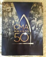50th CMA AWARDS 2016 BOOK AND BLACK TIE TICKET COUNTRY MUSIC COLLECTORS. RARE!!