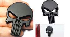 Punisher Totenkopf 2x Emblem selbstklebend Matt-Schwarz  Metall  PKW &Truck NEU!