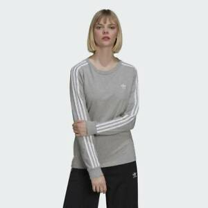 Adidas Originals ADICOLOR LONG-SLEEVE TOP Sweatshirt Stretchy Grey 6 8 10 22 XXL