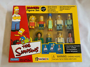 Playmates BLOCKO The Simpsons 9 Figure Set Series 1 Toys R Us Exclusive NIB