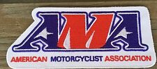 AMA AMERICAN MOTORCYCLE ASSOCIATION WHITE VEST JACKET PATCH 4 7/8""
