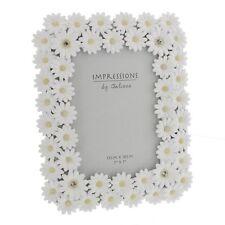 "Juliana Impressions �""� Luxury White Daisy Photo Frame With Crystal Elements - 5 x"