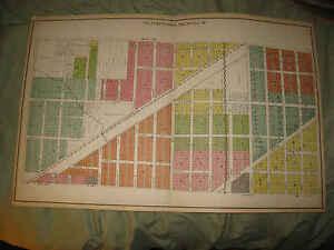 ANTIQUE 1924 KENOSHA CITY KENOSHA COUNTY WISCONSIN MAP PLATE 10 COLUMBUS SCHOOL