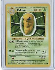 Shadowless Kakuna Pokemon Card Rare