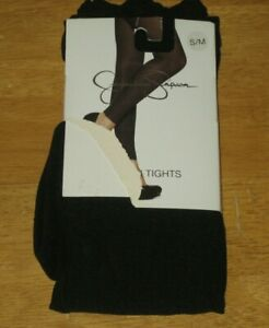 New JESSICA SIMPSON Footless Ruched Leg Fashion Tights S / M Small Medium Black