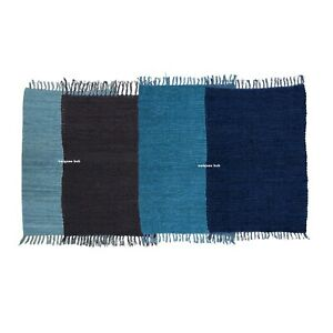 Rug 100% Natural Cotton 2x3 Feet Hand woven Area Carpet Rug Home Decor yoga rug