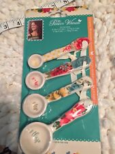 The Pioneer Woman Willow 4-Piece Ceramic Measuring Spoon Set