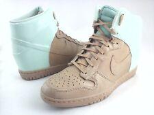 NIKE Sky Hi Sneakers Aqua Green/Tan Wedge Dunk Shoes 611908 Women's US 9 EU 40.5