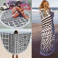 150cm Large Cotton Round Beach Spa Bath Swimming Thick Towels Mat Long Scarf