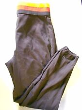 Nos Vtg '80's DeLong Men's Baseball Pants Medium 29-31 Brown Red Yellow Usa