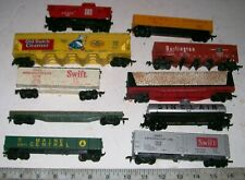 Lot of 10 Vintage TYCO and Other HO Scale Freight Train Railroad Cars, NICE