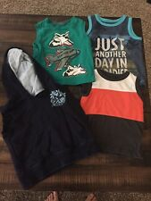 Lot Of Baby Boy Clothes 18 Month Mix Brands TANK TOPS - 4