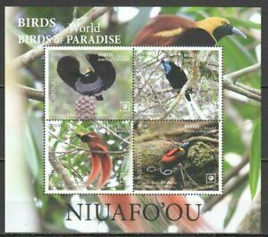 Niuafo'ou 2019 birds of paradise s/s MNH michel bl 88  78 euro