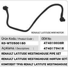 Renault Latitude Vacuum Hose Pipe 474010038R - 474017941R