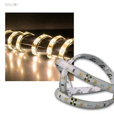 (4,08 €/m) 5m LED Stripe Bianco Caldo 12v ip44 con 300 LED leuchtband autoadesivo