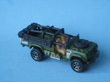 Matchbox Sahara Survivor Land Rover Army SAS Military Green Body Toy Car BP 75mm