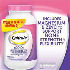 Caltrate 600+D3 Plus Calcium & Vitamin D3 Supplement, 320 Tablets