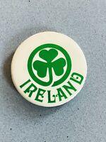 Vintage Ireland Shamrock Pinback Pin Irish Button from 1977 St Patrick's Day