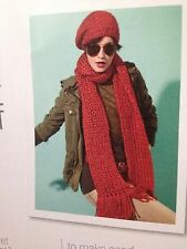Ladies Knitted Beret And Long Scarf Knitting Pattern