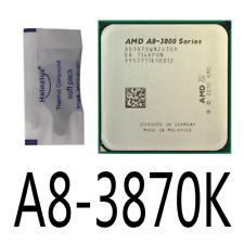 AMD A8-3870K Quad Core 3.0GHz 4M 3000MHz CPU Processor