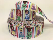 By The Yard 1� Colorful Disney Princess Kids Grosgrain Ribbon Hair Bows Lisa