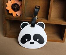 New Cute Panda Bear Luggage Tag Label Suitcase Bag ID Tag Name Address Tag L2