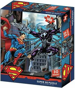 Superman Vs Electro 500 Piece 3D-Look jigsaw puzzle (kc)