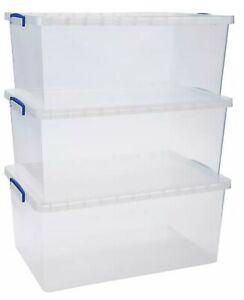 Really Useful Nestable Storage Box 62 Litre Pack of 3