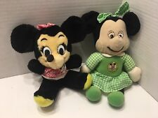 Vintage Lot Minnie Mouse Plush Mickey Mouse Club Green Outfit